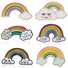 Cartoon Rainbow Cloud Enamel Brooch Pin Badges Lapel Pin Women Men Jewelry Gift