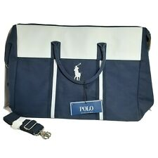 Ralph Lauren Duffle Gym Travel Bag for Men Blue & White Brand New