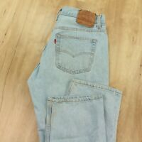 vtg usa made LEVIs 501 fit jeans 34 x 30 (36 x 30 tag) lightwash faded 80s 90s