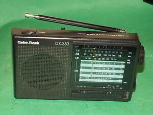 RADIO SHACK DX-350 FM 12-BAND Portable Radio Mains or battery Black Small World