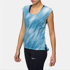 New Nike Women's Running Top M/ XL /t-shirt/gym/fitness/ DRI-FIT/light/ blue/£37