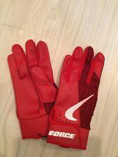 Nike BASEBALL Force Edge Batting Gloves Adult Small Red/White