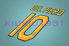 Juventus Del Piero #10 2010-2012 Homekit Nameset Printing