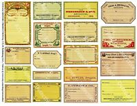 18 DRUGGIST LABELS, Sticker Sheet, Blank Apothecary Labels & Pharmacy Decor