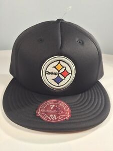 Pittsburgh Steelers NFL Nostalgia Co Mitchell Ness Foam Fit Hat - 7 1/2 & 7 3/8