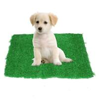 Puppy Potty Trainer Indoor Training Toilet Pet Dog Grass Patch Mat Pee Pad O4L1
