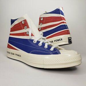 Converse Chuck 70 Hi 'BE HEARD' White/Blue/Red Shoes Mens 7 Womens 9 169912C
