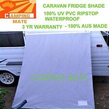 Caravan Fridge Shade screen 100% waterproof PVC UV Premium 650x1800mm AUS MADE