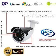 1080P POE IP Camera IP67  Onvif MINI Outdoor Bullet IR Security CCTV Network US