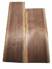 Nussbaum Riegel rustikales Nussholz curly 81x32cm 48mm