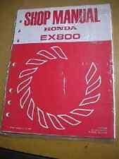 Honda 1983 EX800 Shop Manual 58 Pages 61ZA700