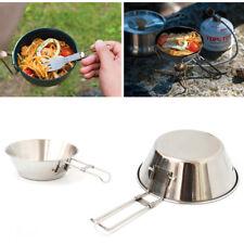 FR_ EG_pliable acier inoxydable Bol Nourriture PLAT CONTENEUR randonnée camping