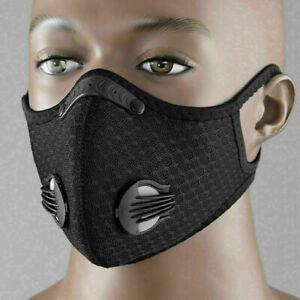 Outdoor Bike Cycling Windproof Sport Masked Anti-fog w PM2.5/Filter Black