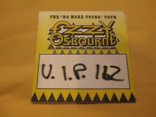 Ozzy Osbourne - No More Tours Tour - All Access - Backstage Pass