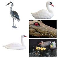 Pondxpert Ornamental Birds and Animals Pond Decoration and Deterrents Swan Du...