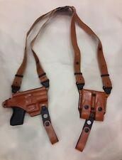 Premium Leather Shoulder Holster for GLOCK 43   - (# 9049 BRN)
