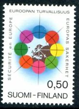 Finland Stamps Scott #523 Circle Surrounding Map of Finland 1972 Mlh