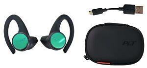 Plantronics Poly BackBeat FIT 3150 True Wireless Sport Earbuds Waterproof Black