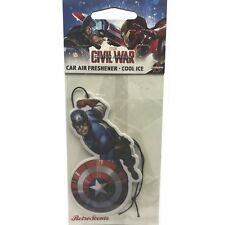 Marvel Avengers, Civil War, Car Air Freshener - Captain America Cool Ice