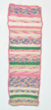 "Vintage Pastel Crochet Doily Knit Table Mat Runner Retro Kitchen Decor 9"" x 29"""
