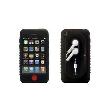 Bone Collection Black iPhone 3G 3GS Wrap Case FREE Screen Protector Gentle Strap