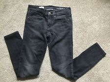 e026b25ac8fa2 GAP 1969 Women's Skinny Legging Jeans Faded Black Wash Stretch Denim Size  25/ 0