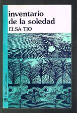 Elsa Tio Inventario De La Soledad Poesia Puerto Rico Signed 1987 Jose A Pelaez