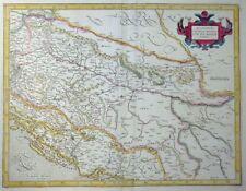 MERCATOR HONDIUS SCLAVONIA CROATIA BOSNIA CUM DALMATIAE PARTE KROATIEN  1606