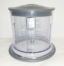 Ninja Master Prep Food Processor 16oz Clear Gray Work Bowl w/ Lid QB900