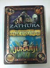 ZATHURA - JUMANJI - STEELBOOK - PACK EXCLUSIVO 2 DVD - DESCATALOGADO SOLD OUT