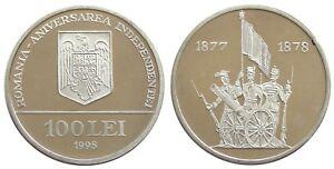 Romania 100 LEI 1998 ANNIVERSARY OF INDEPENDENCE ALUMINIUM COIN PATTERN PROOF
