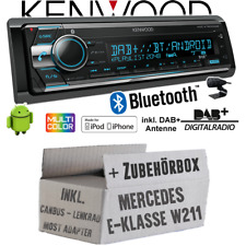 Kenwood Radio für Mercedes W211 Lenkrad MOST CanBus DAB+ Bluetooth CD 2x USB Set