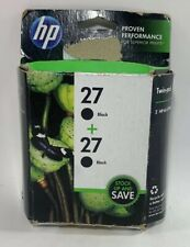 HP 27 Black Ink Twin Pack Sealed - Unopened Box (Genuine) Expired