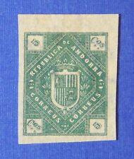 1875 ANDORRA SPANISH 5C UNISSUED STAMP SCOTT# - MICHEL # - UNUSED IMPERF CS25516