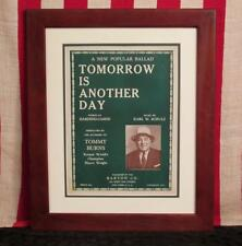 Vintage 1933 Tomorrow Is Another Day Song Sheet Music Boxer Tommy Burns Boxing