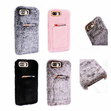 Soft Warm Plush Fluffy Phone Case Cover Comfy Faux Fur For iPhone XR 6s 7 8 Plus