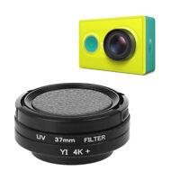 37mm UV Lens Filter + Lens Ring Adapter + Protective Cap for Xiaomi Yi Camera Q