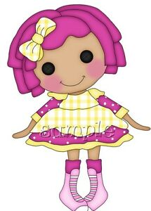 IRON ON TRANSFER LALALOOPSY PINK #7 (9x12cm)