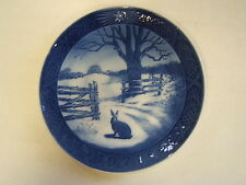Royal Copenhagen Hare in Winter 1971 Christmas Porcelain Collector Plate