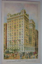 Vintage postcard of The Southern Hotel, Baltimore, MD