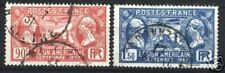 "FRANCE STAMP TIMBRE 1927 Y&T 244/45 "" LEGION AMERICAINE "" OBLITERES TB"