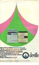 PUBLICITE 1966  DEVILLE poele cuisinières à mazout chaudières