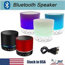 Rechargeable Portable Bluetooth Wireless Speaker Mini Super Bass LED Nightlight