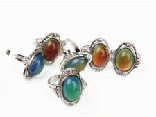 New Beautiful Oval Mood Ring Multi Colored Change Vintage Adjustable Mystic Ring