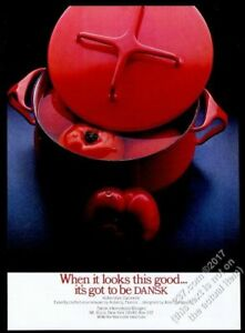 1981 Dansk Kobenstyle casserole red with tomatoes photo vintage print ad