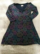 Beautiful WHITE STUFF Long Sleeves Tunic-size 10. Navy/ Multi Floral Worn Once