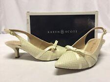Karen Scott MYANN Women's Heels Pump Shoes, Bone, Size 6.5 M, Bridal,Christmas