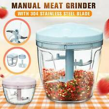 Manual Fruit Vegetable Chopper Hand Pull Food Cutter Grinder Kitchen Tool New