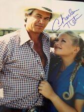 "CHARLENE TILTON Autographed Vintage DALLAS Color Photo ""LUCY EWING""-  IPI COA"
