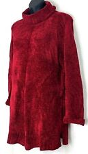 Paraphrase Womens Tunic Sweater Red Turtleneck Christmas Size M